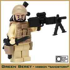 Green Beret ODA Weapons Sergeant Custom Soldier made with real LEGO® Minifigure