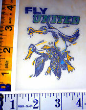 "VERY RARE Vintage Roach Mini ""FLY UNITED"" Iron-on Transfer"