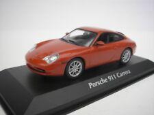 PORSCHE 911 CARRERA 2001 ORANGE ROUGE MÉTALLIQUE 1/43 MAXICHAMPS 940061021 NEUF