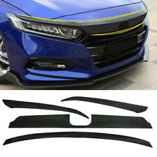 For Honda Accord 2018-2020 Carbon Fiber Bumper Front Hood Grille Decal Sticker