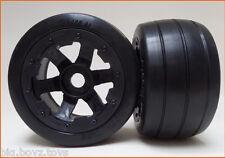 5B Baja Rear Slick Tyres & Wheels (2) fit HPI Predator RC King Motor Rovan