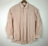 Burberry Of London Men's Long Sleeve Button Down Shirt Size XL Made In USA