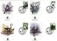 4 Briefe FDC Honduras 1990 WWF Geoffroy Klammeraffe Nr: 1084 - 1087 o C_015