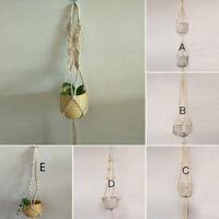 Flower Pot Rope Wall Hanging Holder For Garden Planter Flowerpot Plant Baskets