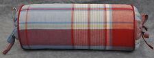 Pillow made w Ralph Lauren Beach House Madras Blue & Red Plaid Fabric N /cording