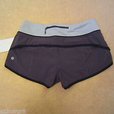 Lululemon Speed Short Soot Light Black Wee Stripe White Ambient Grey 4 6