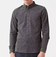 Levis Made & Crafted Shirt Donegal Grey Sz 2 japanese fabric $298 Men's Medium