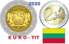 2 €   LITUANIE  1   X  PIECE  COMMEMORATIVE     REGION  AUKSTAITIJA   2020  2020