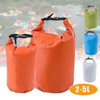 2L/5L Porta Sacchetto Impermeabile Borsa Zaino Per Campeggio Kayak Canoa  √ !