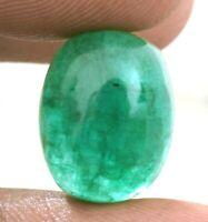 12.80 Carat Natural Zambian Oval Cabochon Ring Size Loose Gemstone 15.40X12.40X9.40 MM IZ 419