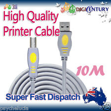 *JH* 10M USB 2.0 A Male To B Male High Quality Printer Extension Cable Cord Gray