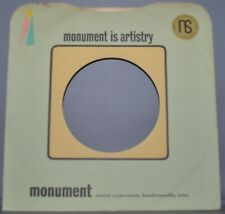"1x 45 rpm MONUMENT green pink corner company sleeve original record sleeves 7"""