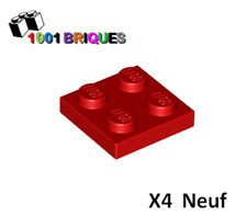 Lego 3022 x4 Plate 2 x 2 Red