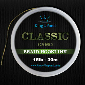 Carp braid hooklink camo or dark green - 30m spool, carp rigs, carp fishing