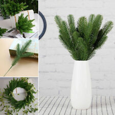 10X Artificial Flower Christmas Fake Plants Pine Branches Xmas Party Home Decor