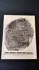 "Chicago "" They Broke Their Own Rules ""(1980) Rare Original Print Promo Poster Ad"