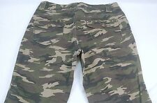 "Zoey Beth 7/8 (31W,22L,9""Rise) Camo Capri Cropped Denim Jeans  #T253"
