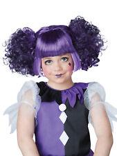 Filles cassé poupée Nattes Perruque Bottes Violet Noir Halloween Déguisements