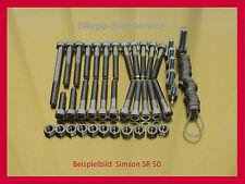 Simson SR50 / S51 / S70 / SR80 / KR51  V2A Schrauben Motor Schraubensatz