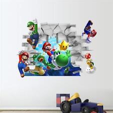 Super Mario 3D Wandaufkleber Wandsticker Wandtattoo Wanddeko Kinderzimmer