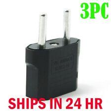 3 Pcs US USA to EU Euro Europe AC Power Wall Plug Converter Travel Adapter