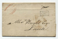 1844 Hale & Co. Providence RI via Boston to Lowell MA stampless [5247.89]