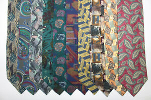 LOT OF 10 TIZIANA BOSSI  silk ties MADE IN ITALY. F3400
