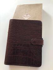 Stunning Mulberry Agenda Filofax In Rich Brown Nile Leather