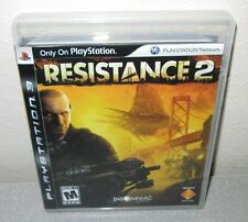 RESISTANCE 2 II PlayStation 3 PS3 FPS Insomniac Shooter DayOne Black Label notGH