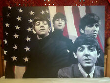 Rare A0 Beatles The Beatles in U.S.A Canvas Print Extra Large A0 (118 x 59 cm)