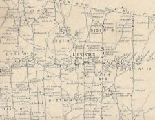 Harwinton Campville Naugatuck River CT 1874 Map with Homeowners Names Shown