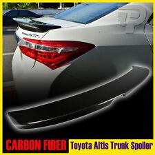 For Toyota Corolla Altis 4DR Sedan EUR 2014+ Rear Trunk Spoiler Carbon Fiber