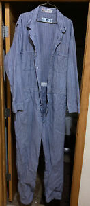 RED KAP  COVERALLS SEVERAL SIZES Fisher Stripe/Herringbone 100% Cotton