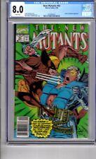 New Mutants #93 8.0 CGC W/P Wolverine & Sunfire App  Liefeld & Mcarlane C & A