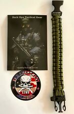 550 Paracord Survival Bracelet + Decal...Dark Ops Tactical Gear...Army Green