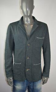 Hugo Boss Want cotton fabric men blazer in grey size L, VGC with logos