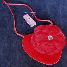 Toby N.Y.C. Girl's Velvet Heart Handbag Purse - Flower - Red - BRAND NEW, CUTE!!