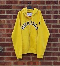 Vintage Jaune Fermeture Éclair Sweat à capuche Michigan Wolverines USA Canary moutarde Bleu Marine Sports XL