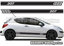 Peugeot 207 011 side racing stripes graphics stickers decals vinyl