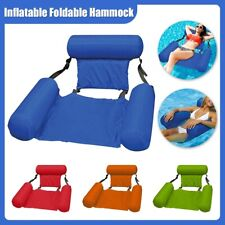 Swimming Floating Chair Pool Seats Inflatable Lazy Water Bed Lounge Chair Toy