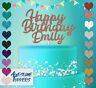 Personalised Custom Happy Birthday Cake Topper Glitter Decoration Party Name Age