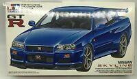Tamiya Nissan Skyline GTR R34 V 1/24 Scale Car Plastic Model Kit Display