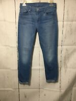 Seven 7 for All Mankind The Skinny Crop & Roll Stretch Blue Jeans size 28