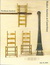 NORTHEAST SHAKER AUCTION AT CANTERBURY Wiggins Zanetis Coll Catalog 2003