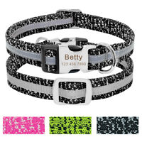 Personalized Dog Collar Soft Collar ID Name Tag Engraved for Small To Large Dog