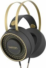 Betron Retro Wired Headphone Over Ear Headset 1.6m cable with Carry Case, Bass