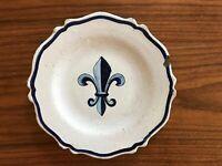 ASSIETTE FAÏENCE XIX ÈME FLEUR DE LYS BLEUE/ Antique blue Fleur de lys plate