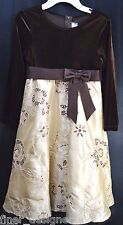 RARE EDITIONS Dress pageant Velvet embellished Holiday girls Formal gown 6X NEW