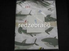 Pottery Barn Kids Shark Full Sheet Set 4-pc NEW Gray