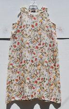 """NEW Eskandar FLORAL Print Linen A-line 50"""" Long  Sleeveless Dress (2) $1090"""